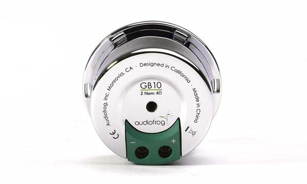 AudioFrog GB10 rear view